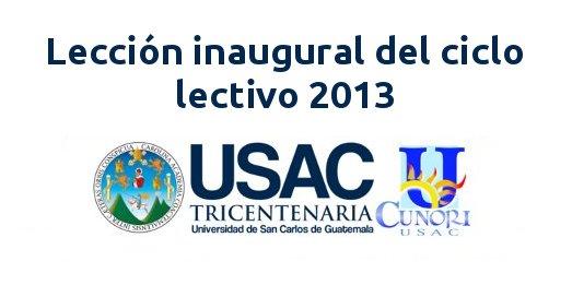 leccion inaugural 2013