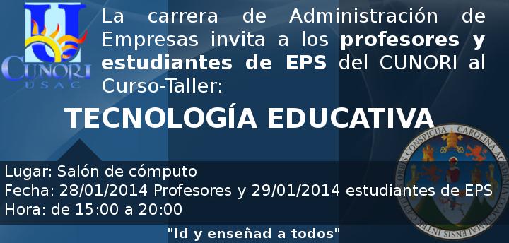 taller tecnologia educativa