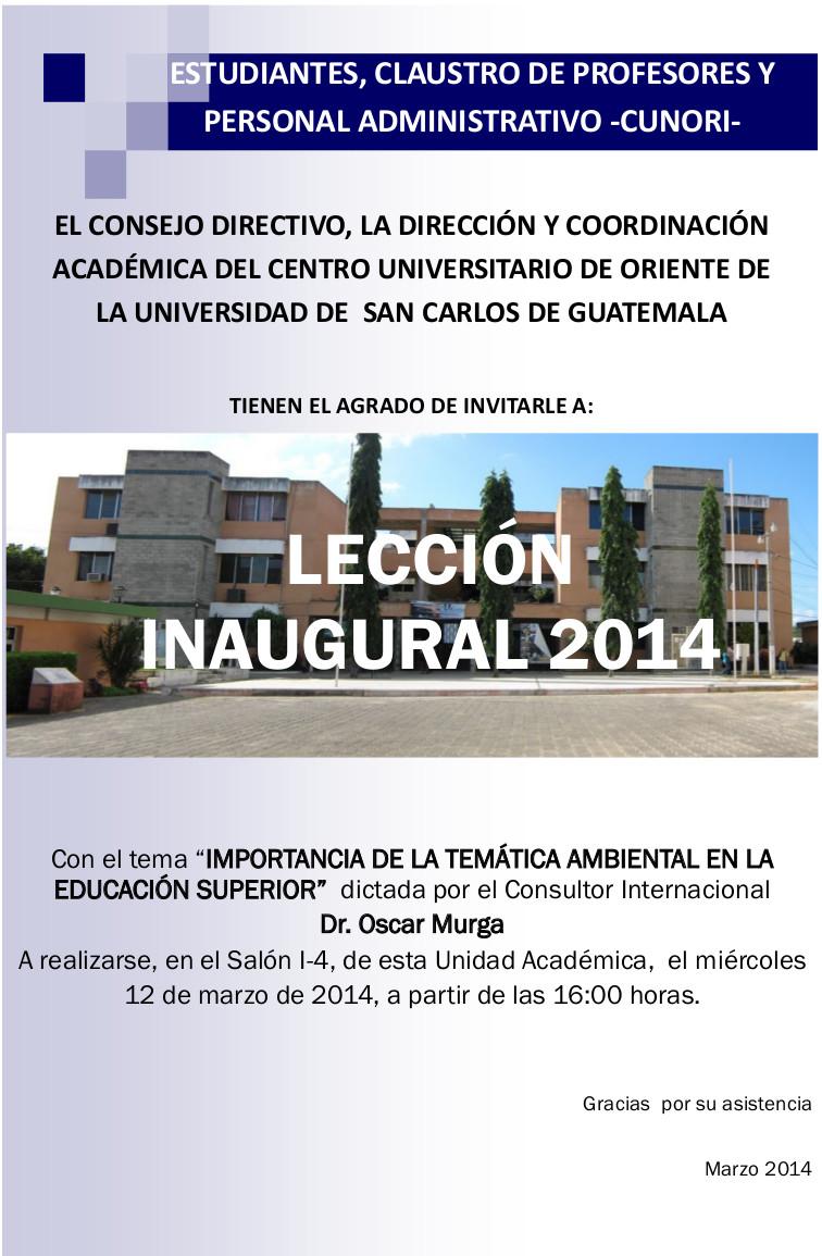leccion inaugural 2014