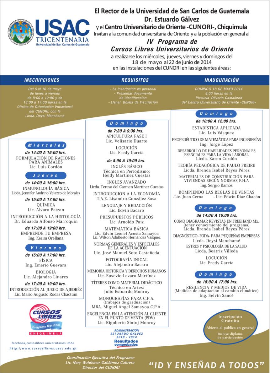 cursos libres 2014 fase 1